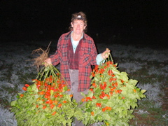 Ann Mooney with Peppers